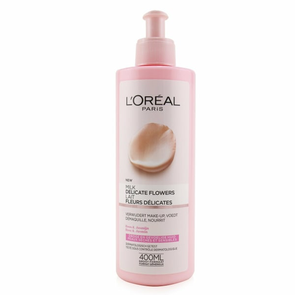 L'oreal Women's Delicate Flowers Cleansing Milk Face Cleanser