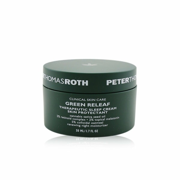 Peter Thomas Roth Men's Renewing Night Moisturizer (Exp. Date: 07/2021) Green Releaf Therapeutic Sleep Cream Skin Protectant Balms &