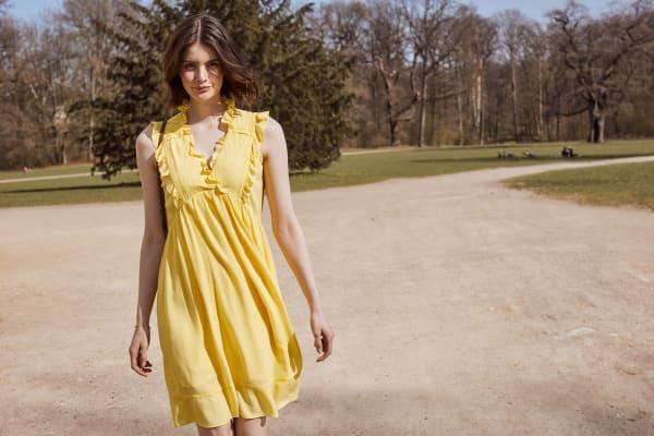 Solid Sleeveless Tiered Ruffle Dress