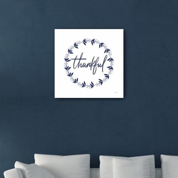 Thankful Wreath Canvas Giclee