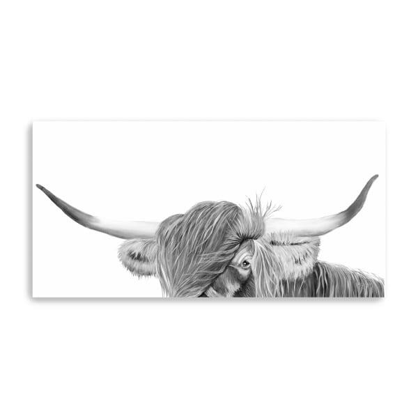 Peek-A-Boo Highland Canvas Giclee