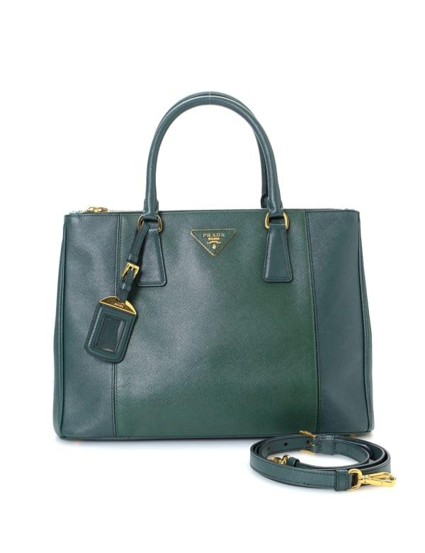 Prada Galleria Double Zip Tote Medium Bag