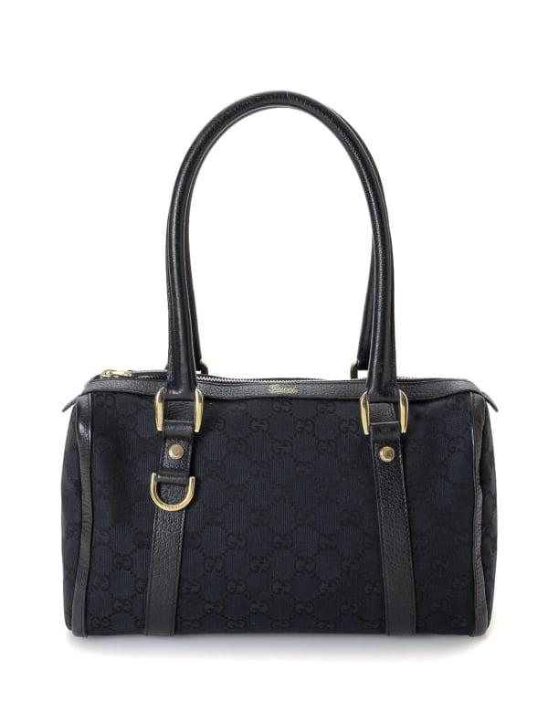 Gucci GG Canvas D-Ring Boston Bag