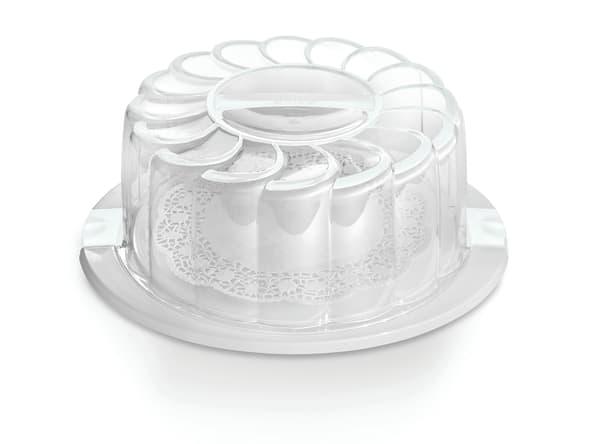 """Snips 11"""" White Cake Holder / Carrier"""
