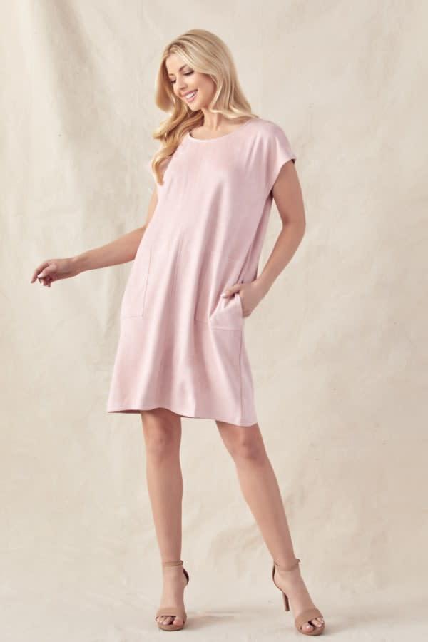 Ariel Stretch Suede Dress