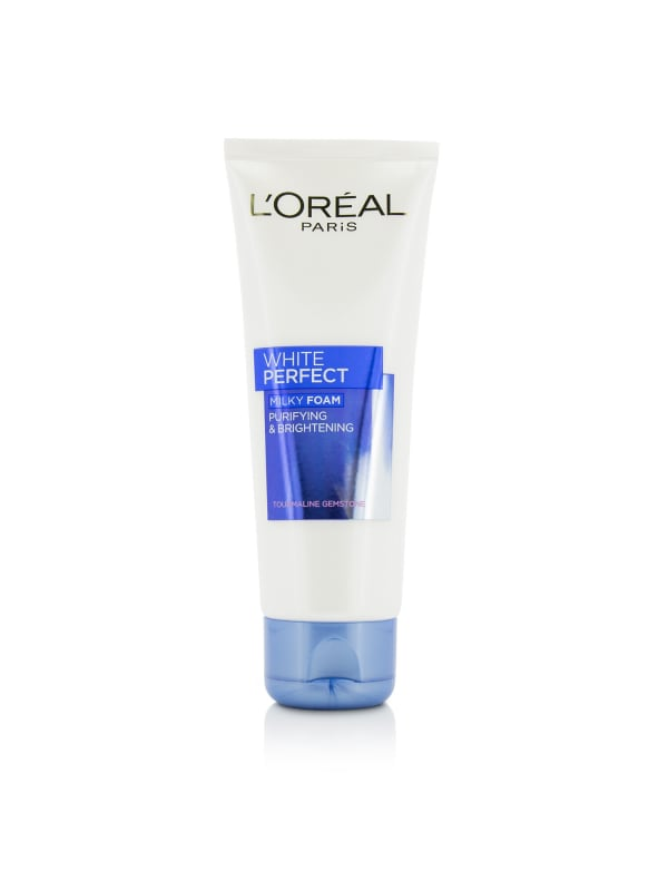 L'oreal Women's Dermo-Expertise White Perfect Purifies & Brightness Milky Foam Face Cleanser