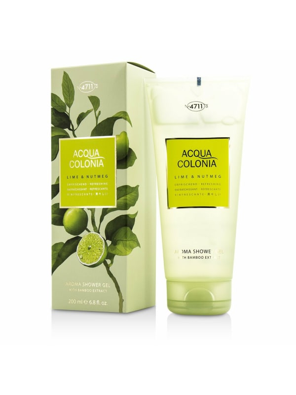 4711 Women's Acqua Colonia Lime & Nutmeg Aroma Shower Gel Bath And Aids - N/A - Front