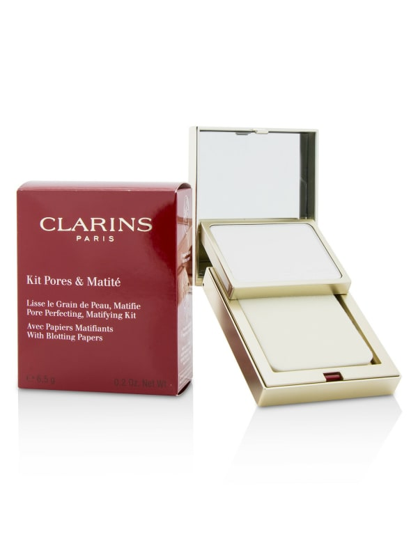 Clarins Women's Pore Perfecting Matifying Kit With Blotting Papers Foundation