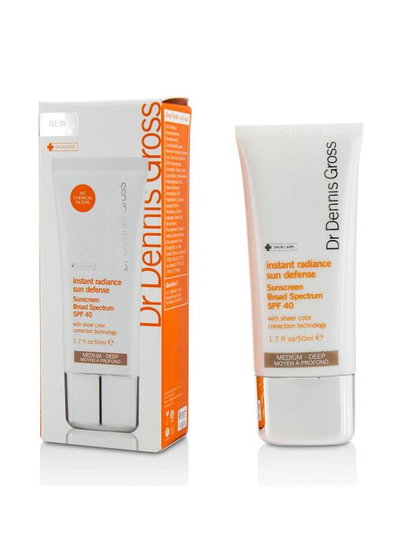 Dr Dennis Gross Women's Deep Instant Radiance Sun Defense Sunscreen Broad Spectrum Spf 40- Medium Self-Tanners & Bronzer