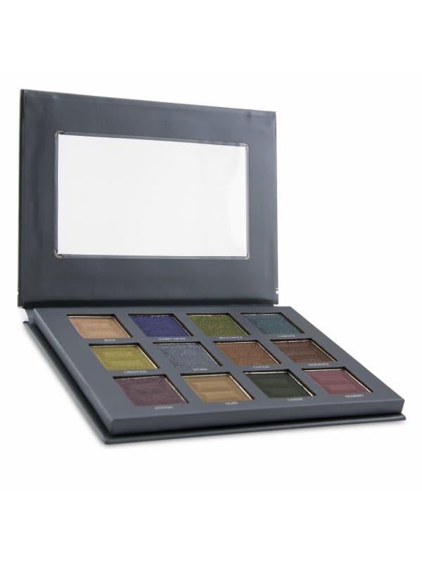 Bellapierre Cosmetics Women's 12 Color Pro Jewel Eye Palette Brush Set