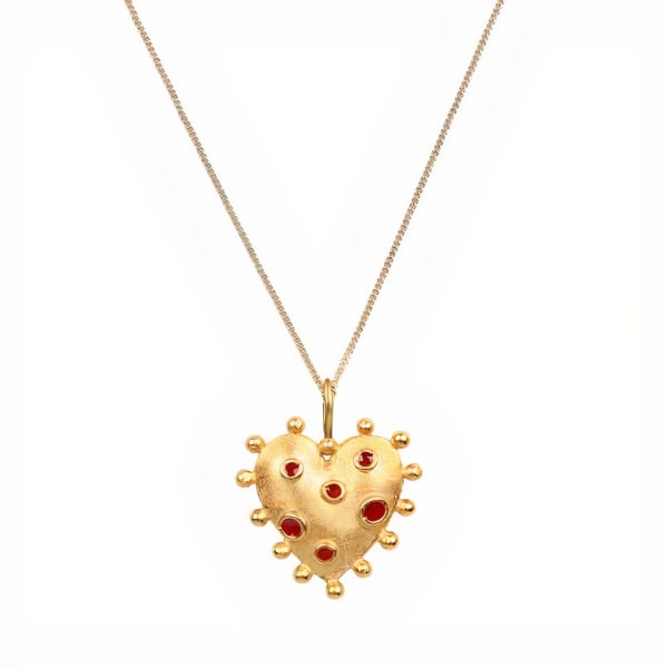Bumpy Heart Pendant Necklace