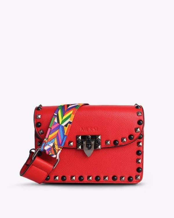 Mersi Ruby Studded Crossbody - Vegan Leather