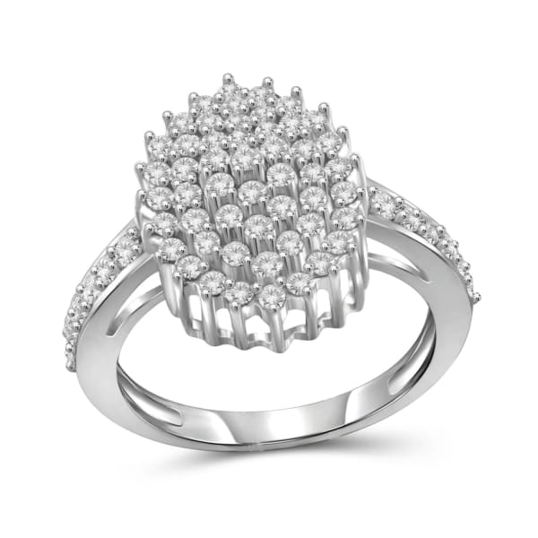 Jewelonfire 1.00 Carat T.w. White Diamond Sterling Silver Ring (Size 7 Only)