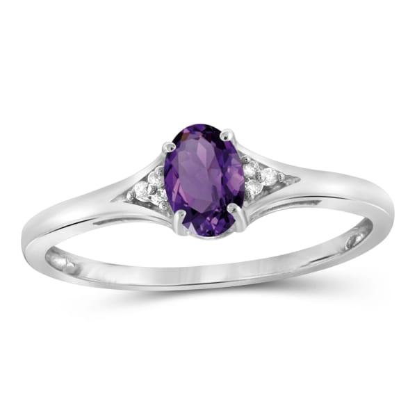 Jewelonfire 1/2 Carat T.g.w. Sky Blue Topaz And White Diamond Accent Ring