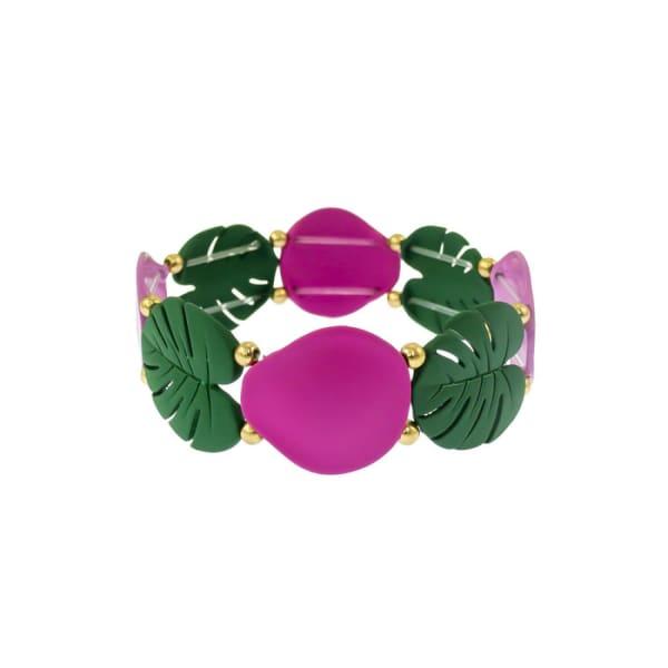 Carol Dauplaise Stretch Leaf Bracelet