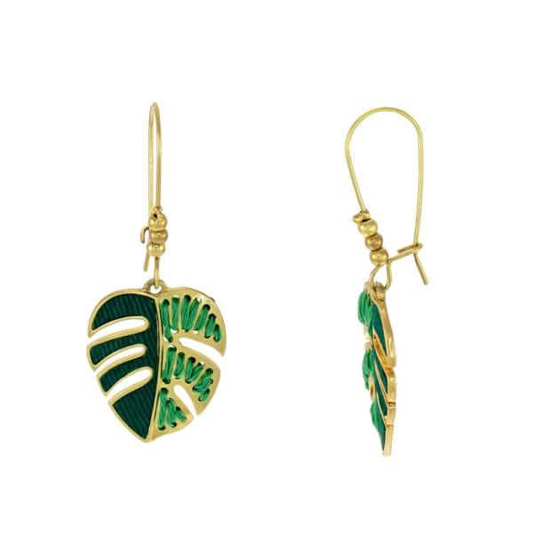 Carol Dauplaise Leaf Drop Earrings