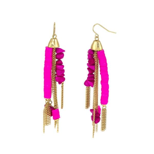 Carol Dauplaise Fringe Drop Earrings