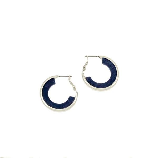 Carol Dauplaise Wood Hoop Earrings