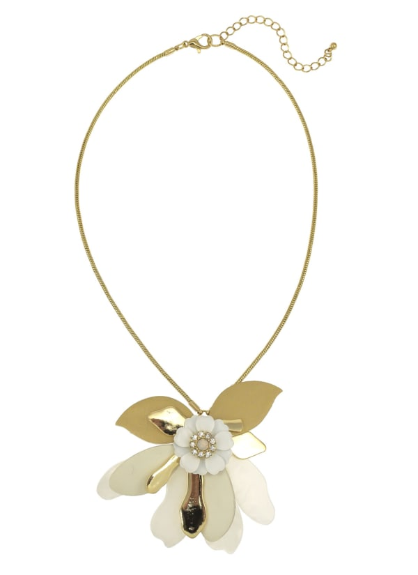 Carol Dauplaise Natural Floral Necklace