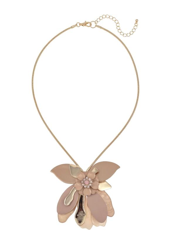 Carol Dauplaise Pink Floral Necklace