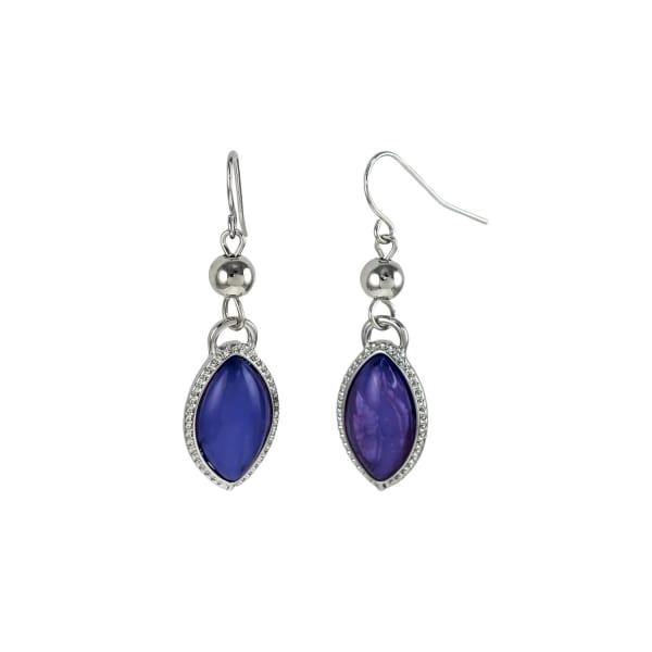 Carol Dauplaise Purple Drop Earrings