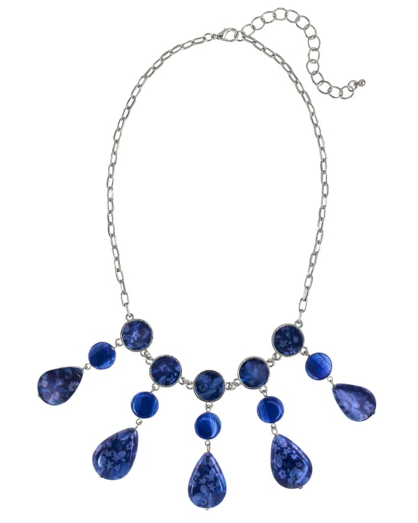 Carol Dauplaise Blue Short Collar Necklace