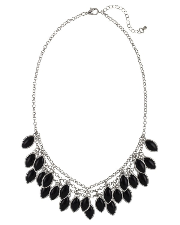 Carol Dauplaise Jet Shaky Collar Necklace