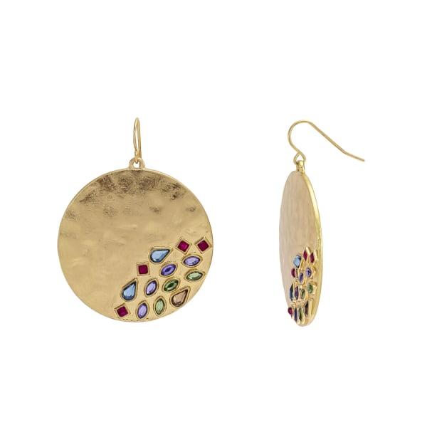 Carol Dauplaise Bold Round Stone Earrings