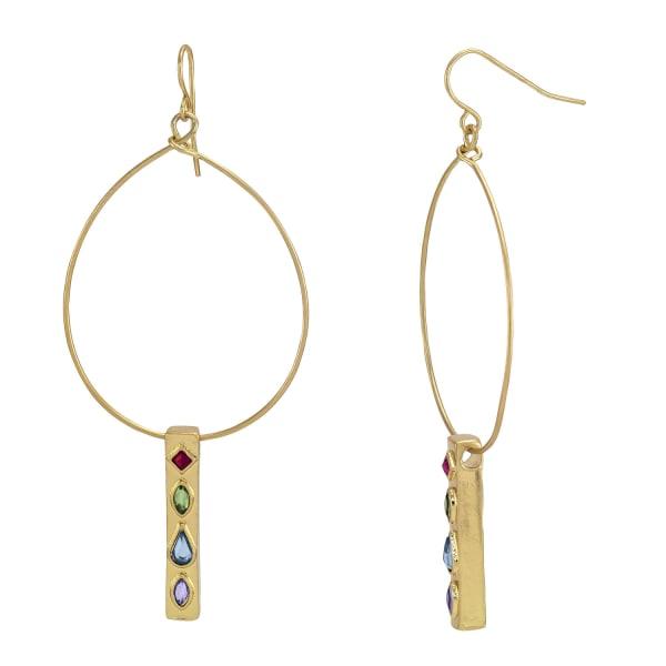 Carol Dauplaise Stone Hoop Earrings