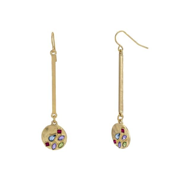 Carol Dauplaise Stone Stick Drop Earrings