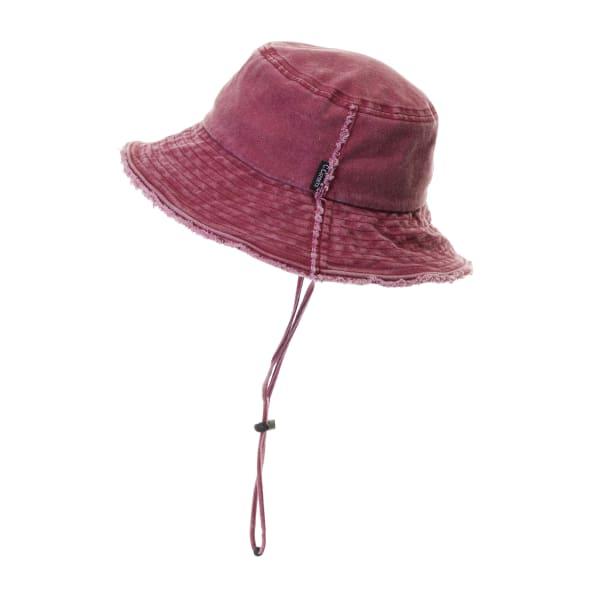 CC Frayed Washed Denim Bucket Hat
