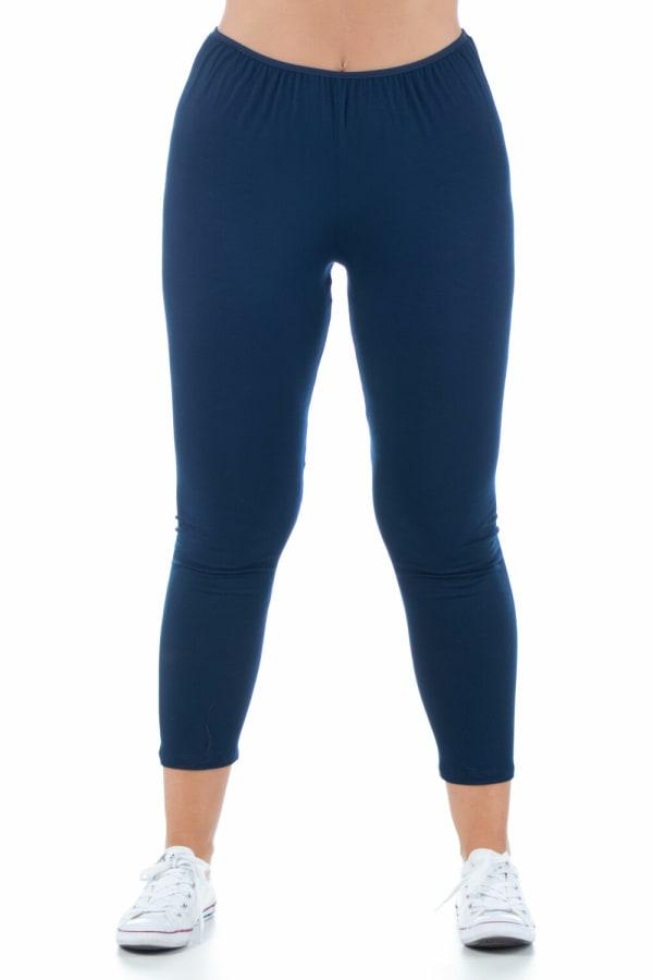 24Seven Comfort Apparel Comfortable Ankle Length Stretch Plus Size Leggings