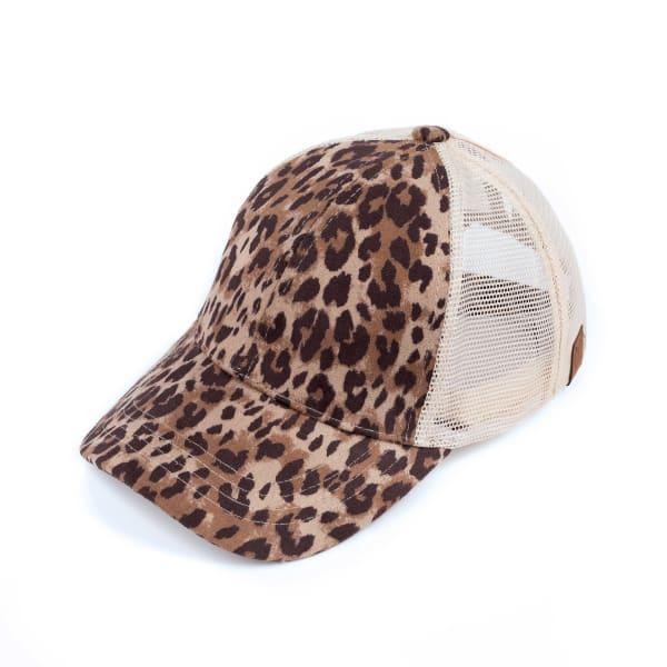 CC Faux Suede Leopard Hat