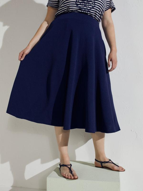 Tasmin Flare Floral Midi Skirts