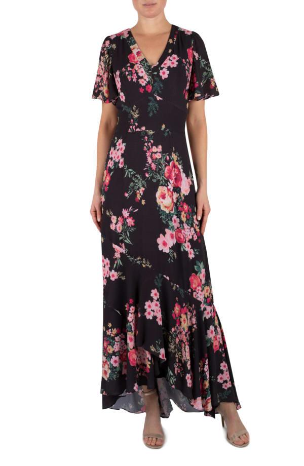 Julia Jordan Floral  Maxi Dress