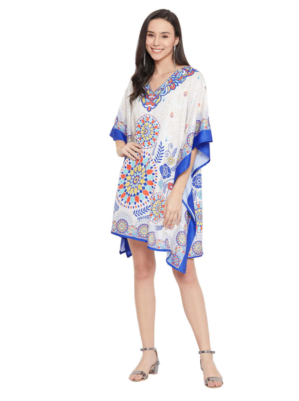 Free-Flowing  Polyester Kaftan Dress - Plus