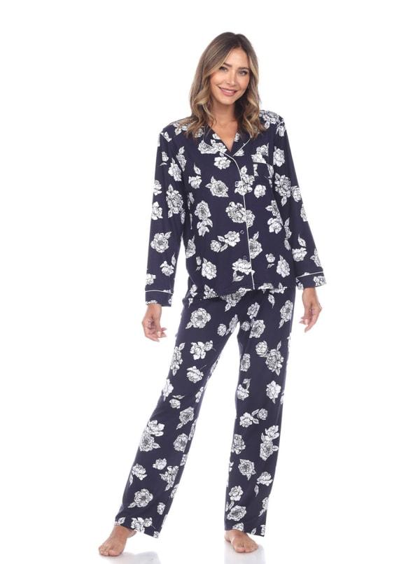 Long Sleeve Floral Pajama Set