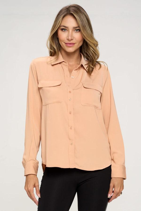 KAII Women Pinched Collar Shirt