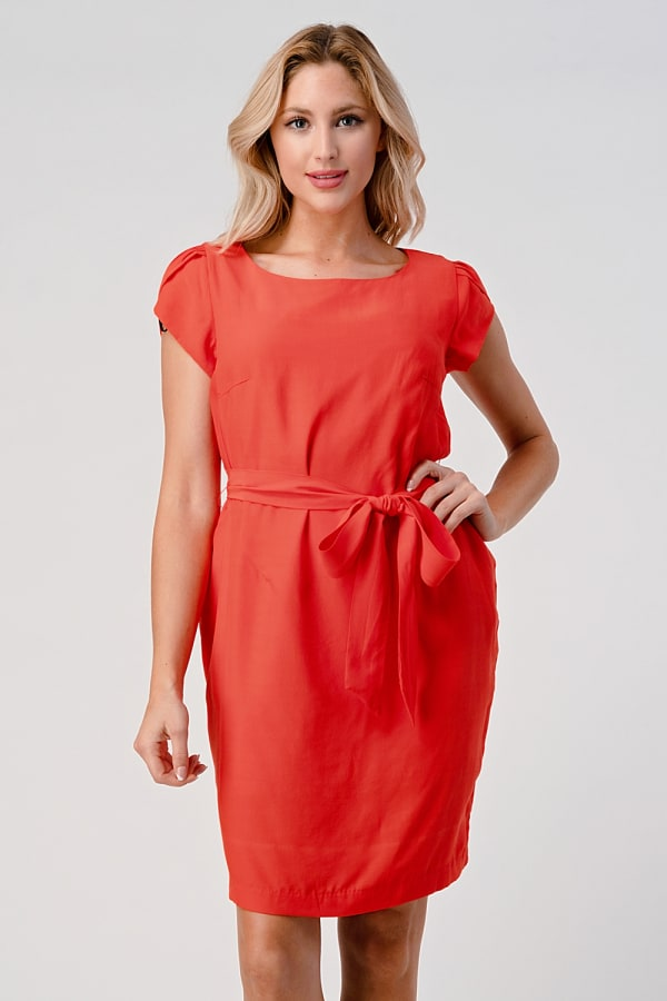 KAII Tie Back With Sleeves Dress