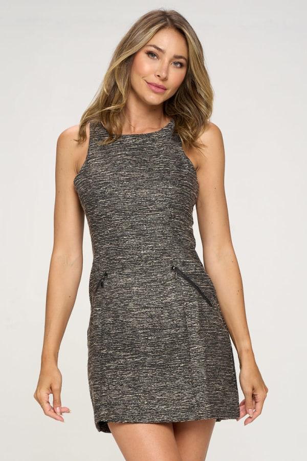 KAII Zipper Pochet Tropez Dress