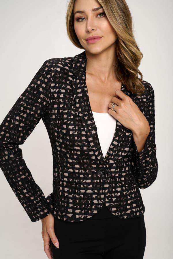 KAII Allover Stripe Lace Jacket