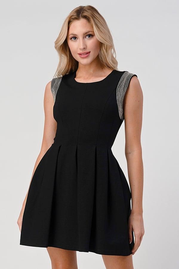 KAII Micro Chain Detailed Pleated Dress