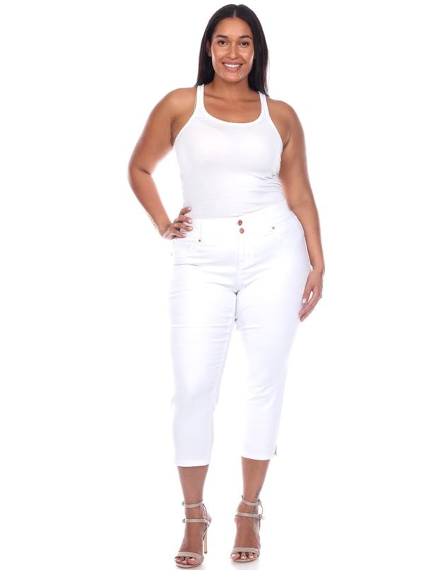 Super Stretchy Capri Jeans - Plus