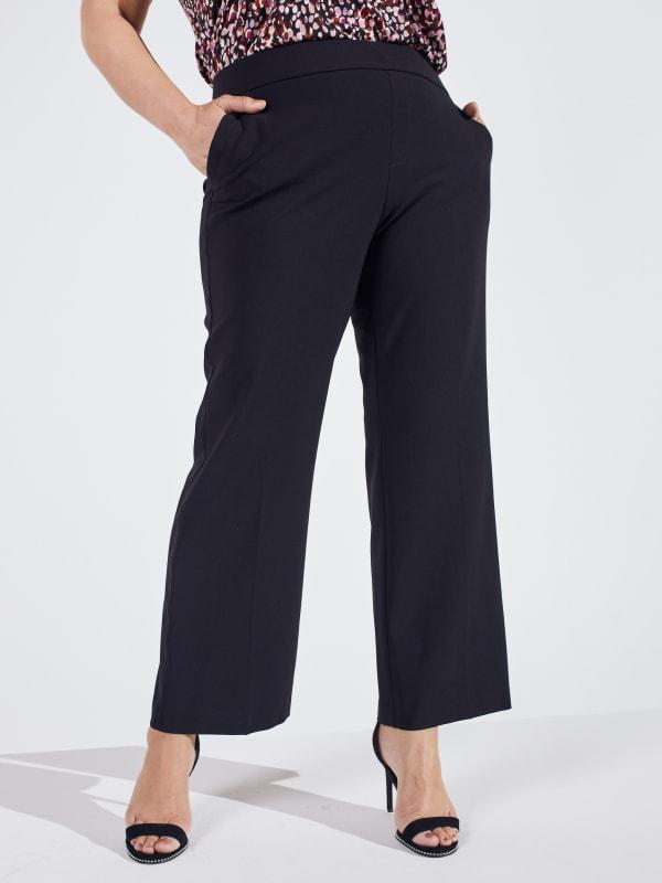 Roz & Ali Secret Agent Slight Bootcut Pants - Plus