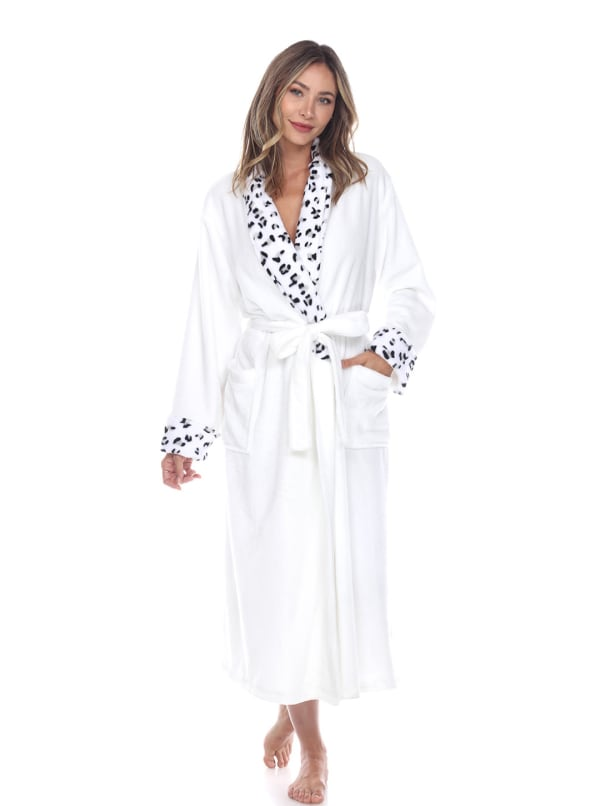 Leopard Print Cozy Lounge Robe - Plus