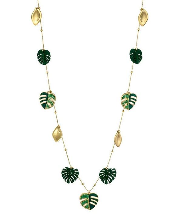 Carol Dauplaise Long Shaky Leaf Necklace