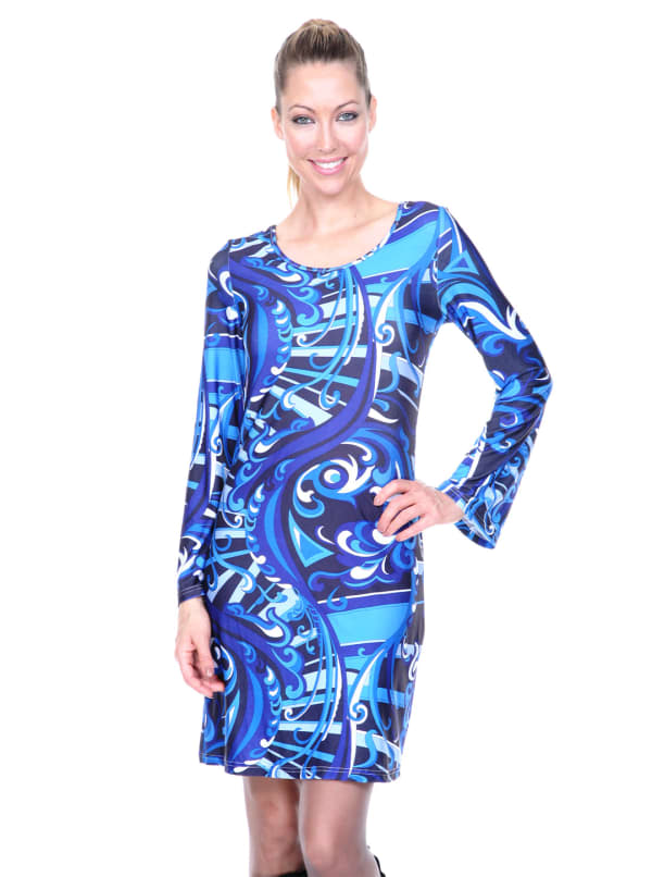 Juliana Long Bell Sleeves Dress