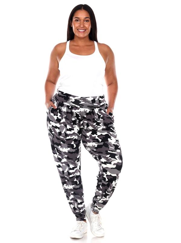 Camo Harem Pants - Plus