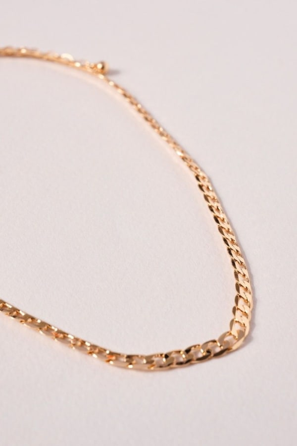 Brass Chain Linked Short Necklace