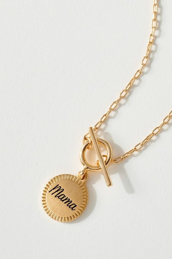 Inspirational Toggle Chain Coin Necklace